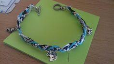 Bracelet tissus breloque de la boutique Bijouxnespresso sur Etsy