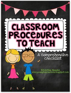 Classroom Procedures to Teach {Back to School Classroom Management Tool} - Young Teacher Love Classroom Behavior Management, Classroom Procedures, Classroom Rules, Future Classroom, School Classroom, Classroom Organization, Classroom Ideas, Classroom Routines, Behavior Tracking