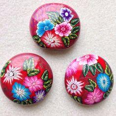 kimono design polymer clay beads