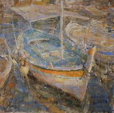 Fishing Boats in Cassis France by Derek Penix Oil ~ 20 x 20 Fishing Boats, France, Fine Art, Illustration, Painting, Kai, Artists, Illustrations, Paintings