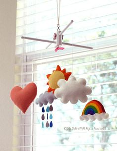 Free US Ship HAPPY SUNSHINE Musical Baby Mobile  by GiftsDefine