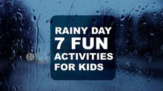 RAINY DAY 7 FUN ACTIVITIES FOR KIDS. SWAP SCREEN TIME FOR ACTIVE PLAY #BabyandMother #BabyClothing #BabyCare #BabyAccessories