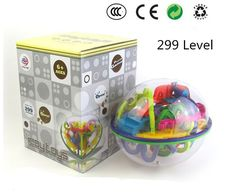 3D Magic Maze Ball 299 Closed Level Intellect Ball Children's Educational toys Orbit game intelligence Christmas New year Gift