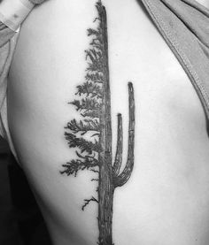 Cactus pine tree hybrid tattoo - All About Bff Tattoos, Wüsten Tattoo, Cowgirl Tattoos, Piercing Tattoo, Finger Tattoos, Future Tattoos, Love Tattoos, Back Tattoo, Body Art Tattoos