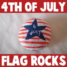 How to make a Painted Stone or Rock 4th July Paper Weight or Decoration « Fourth Of July Crafts « Holiday Crafts For Kids « Kids Crafts & Activities