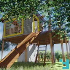 Sabe aquele projeto em que você se diverte fazendo e não vê a hora de estar pronto?! Casa na Árvore - Chácara IM, Goiânia-GO  #Fors #Ideias #Arquitetura #issoéFORS