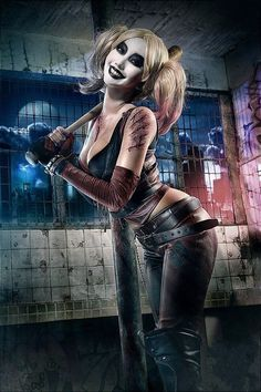 Harley Quinn Batman Arkham City Fabric poster