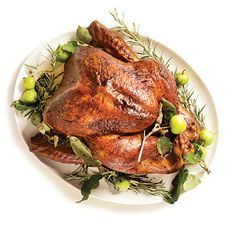 Roasted Turkey with Rosemary-Garlic Butter Rub and Pan Gravy by Cooking Light