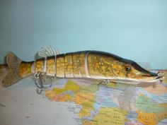 Life like Articulated Fishing Lure. Soft fins, add scents and flavours Pike Fishing, Fishing Bait, Predator, Ideas, Thoughts
