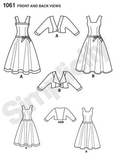 PATTERN BRAND: Simplicity PATTERN #: 1061 SIZES INCLUDED: US 12,14,16,18,20 BUST: 34 to 42  CONDITION: Unused in original envelope with original instructions and pattern folds. Uncut  Simplicity 1061 Plus Size Dress Pattern - Full Circle Skirt - Vintage Dress Pattern - Retro Dress - Skater Skirt - Party Dresses