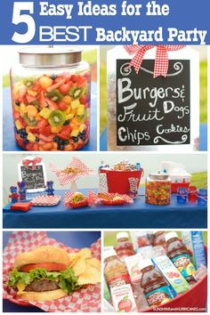 5 EASY Ideas For Hosting The BEST Backyard Party. Want to impress friends and neighbors with a backyard party they won't forget? These simple tips, tricks and party hacks are all you need. Party Hacks, Party Ideas, Dog Cookies, Bbq Party, Luau Party, Backyard Bbq, Backyard Ideas, Birthday Party Themes, Birthday Bbq