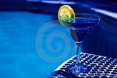 Summer Drink With Slice Of Lemon Stock Photo - Image of effect, citrus: 14060560 Blue Drinks, Summer Drinks, Rhapsody In Blue, Something Blue, Cobalt Blue, Shades Of Blue, Lemon, Stock Photos, Glass