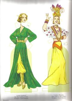 Great Costumes from Classic Movies: Carole Lombard in My Man Godfrey (1936) & Carmen Miranda in That Night in Rio (1941)