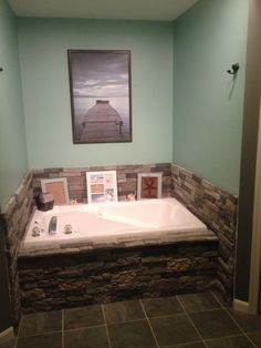 Easily Update Your Boring Builtin Bathtub With Airstone - Fake tile tub surround