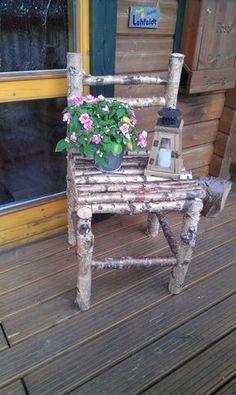 Deco chair made of birch Dekostuhl aus Birkenholz - Mobilier de Salon