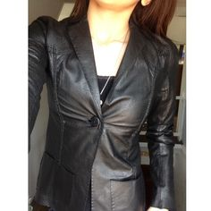 Max Studio Special Edition Leather Jacket 100% leather. Very buttery leather! This is a gorgeous jacket! It's in excellent condition on the outside. The lining has some years in it but it's not noticeable since its on the inside. Size 0- fits like a small. The leather is very soft and thin Max Studio Jackets & Coats