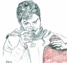 """""""Nella borsa dell'acqua calda ci metto il vino.Da un calore diverso"""", dice Furio all'assistente sociale che lo guarda con occhi sbarrati."""