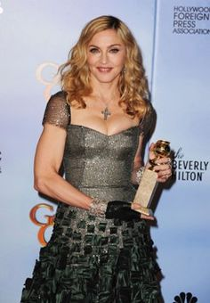 Singer Madonna at the Annual Golden Globe Awards