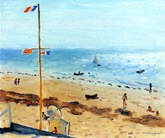 Le Pyla, the Beach in Summer (Arcachon) / Albert Marquet - 1935