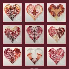 © Halcyoncreativegifts - Quilled hearts pictures(Searched by Châu Khang)
