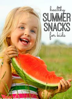 Healthy Summer Snacks for Kids - super simple and delicious snacks that will keep your kids energized all summer long (and keep you out of the kitchen!)