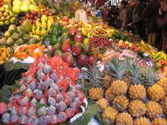 Frutas tropicales Mercado de la Boqueria