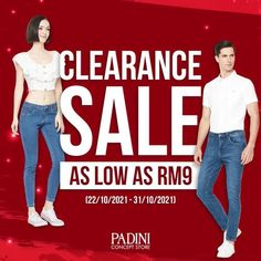 Padini Concept Store Clearance Sale As Low As RM9 (22 October 2021 - 31 October 2021)