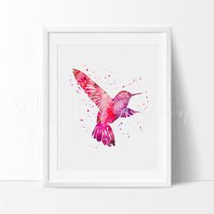 Bird Watercolor Art Print Wall Decor. Our designs make an attractive, modern contemporary wall piece for your baby nursery, home, office or even as a gift.