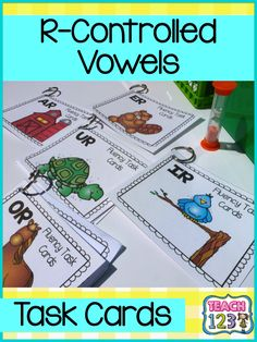 R-Controlled Vowels: Fluency Task Card - also includes a partner page.  #TaskCard #RControlledVowel paid