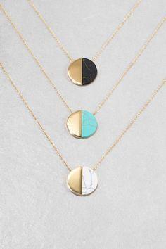 Callista Stone Necklace (14K Gold) $16.00