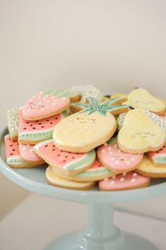 Cookies from a Tutti Frutti Birthday Party via Kara's Party Ideas | KarasPartyIdeas.com (29)