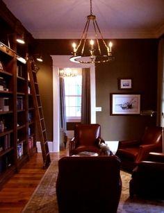 library ladder, houzz.com