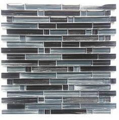 Wavy Shaped Gl Mosaic Tile Sky Blue And White 1 Carton 11 Sheets Sq Contemporary Stone Ltd Bathroom Tiles Pinterest
