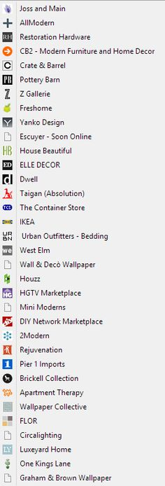 A List Of Some Great Interior Design Stores Sites