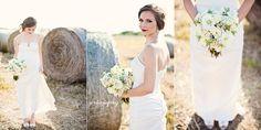 simple wedding in a field  | Austin Bridal Photographer | Bridal Portraits in a Field