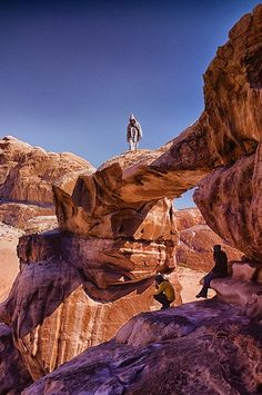 Rock arch at Wadi Rum, Aquaba, Jordan