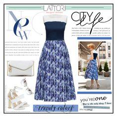 """LATTORI dress"" by water-polo ❤ liked on Polyvore featuring Lattori, Carvela, Miu Miu, polyvoreeditorial and lattori"