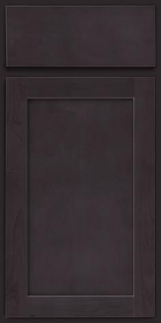 Merillat Classic Marlin cabinet door in Basalt grey stain on Maple wood.