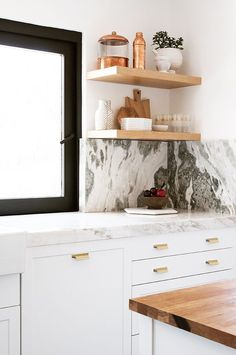 9 Eye-Catching Kitchens That Are Totally Inspiring My Newest Project  #marble #natural #interiors #kitchens #modern