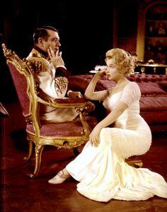 Marilyn Monroe and Laurence Olivier in The Prince and the Showgirl, released 1957