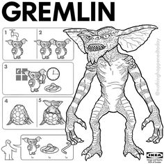 IKEA Instructions for Horror Fans - Gremlins by Ed Harrington