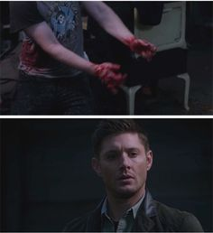 Supernatural 11x08 Just My Imagination [gifset] - I play air guitar - Dean's so jealous :D