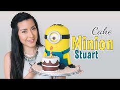 Tarta Minion Stuart - tutorial paso a paso   fondant cake   Quiero Cupcakes! - YouTube