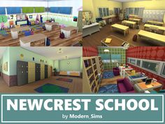Stunning school inspired by The Sims This school works for elementary and high school, is fully furnished and decorated. With three floors, there is plenty for your Sims to do. Found in TSR Category 'Sims 4 Community Lots' Sims 4 Mods, My Sims, Sims Cc, Primary School, Elementary Schools, Sims 4 House Building, The Sims 4 Lots, Sims 4 Cc Packs, Sims 4 Build
