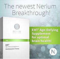 Nerium lanza en USA un suplemento para conservar la salud de la mente!! Esperemos noticias de su llegada a México y Canadá