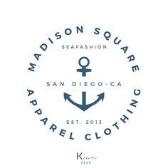 Anchor Logo. Marine Logo. Sea Logo. Apparel Logo. Boutique Logo. Restaurant Logo. Food Logo. Circle Logo. Stamp Logo. Round Badge Logo. by KreativDesk on Etsy