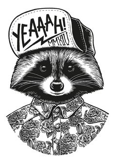 Sweet illustration - Raccoon on Behance by Yeaah! Studio Paris, France