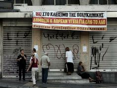 Tough austerity measures in Greece leave nearly a million people with no access to healthcare, leading to soaring infant mortality, HIV infection and suicide http://www.independent.co.uk/news/world/europe/tough-austerity-measures-in-greece-leave-nearly-a-million-people-with-no-access-to-healthcare-leading-to-soaring-infant-mortality-hiv-infection-and-suicide-9142274.html
