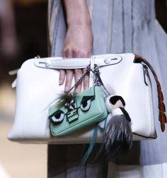Fendi White Python By The Way Bag with Mint Green Baguette Micro Bag - Spring 2015