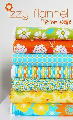 Izzy Flannel by Ann Kelle Quilting Fabric, Fabric Art, Machine Quilting, Cushion Cover Designs, Flannel Material, Fabric Combinations, Morning Flowers, Coordinating Fabrics, Receiving Blankets